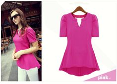 OL Womens Ladys Peplum Tops Frill Puff Sleeve Fitted Shirt Blouse Shirt-in Blouses & Shirts from Apparel & Accessories on Aliexpress.com