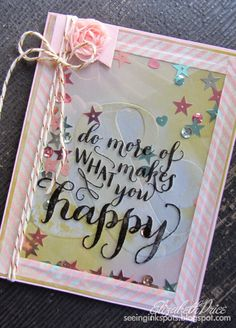 Hello Life by Stampin' Up! with the Ampersand TIEF to make a simple shaker card.