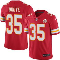 Nike Chiefs  35 Christian Okoye Red Team Color Men s Stitched NFL Vapor  Untouchable Limited Jersey 781cec203f5