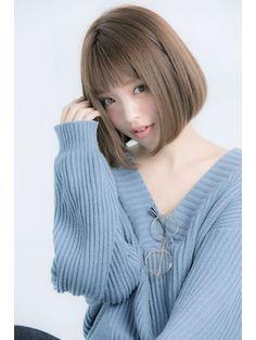 【Euphoria】大人かわいいタンバルモリ☆フリンジバング×ボブ - 24時間いつでもWEB予約OK!ヘアスタイル10万点以上掲載!お気に入りの髪型、人気のヘアスタイルを探すならKirei Style[キレイスタイル]で。