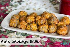Keto sausage balls are a holiday tradition. These sausage balls are gluten-free, sugar free, keto friendly, low carb and high fat.