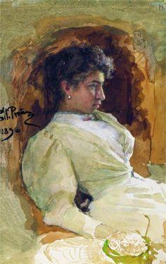 Portrait of N.I. Repina, 1896 - Ilya Repin - WikiArt.org