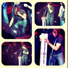 @KeithUrban getting invited at All For The Hall, to become the next member of the Grand Ole Opry! - Bridgestone Arena - April 10th, 2012