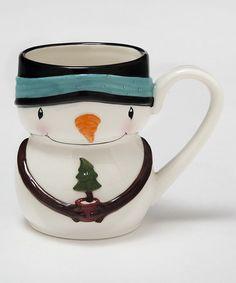 Snowman & Tree Mug #zulily #zulilyfinds