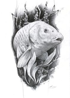 carp tattoo by AndreySkull.deviantart.com on @DeviantArt