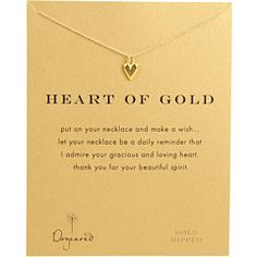 Dogeared Heart of Gold Necklace w/Pendant. Let your Mom know that you admire her.