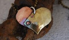 Rivet Heart Pendant