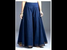 How to stitch Circular Palazzo/ Divided Skirt/ Wide Leg Trousers for Adults - YouTube