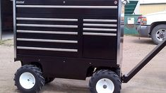 This Electric Motorized All-Terrain Pit Box can make moving, loading and unloading your tools safe and quick. Tractor Pictures, Electric Utility, Fabrication Tools, Welding Cart, Tool Cart, Metal Fab, Garage Tools, John Deere Tractors, Homemade Tools
