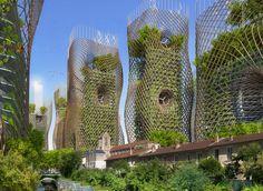 """2050 Paris Smart City by Vincent Callebaut Architectures. Paris Smart City"""" is a research and development project for Paris Architecture Design, Green Architecture, Futuristic Architecture, Amazing Architecture, Landscape Architecture, Parametric Architecture, Building Architecture, Sustainable City, Sustainable Architecture"""