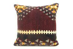 Anatolian Kilim Pillow Cover 18 x 18  Natural by kilimwarehouse