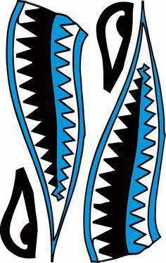 Rc Airbrush Stencils Paint Masks Flying Shark Shark