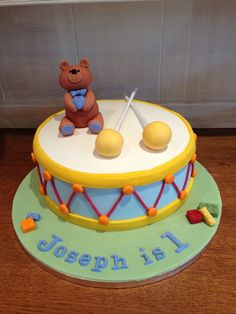 drum birthday cakes for 1st birthday - Google Search                                                                                                                                                                                 More