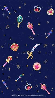 Sailor Moon Drops Wallpaper                                                                                                                                                                                 More