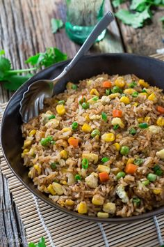 Perfect Fried Rice - so easy to make this popular Chinese takeout dish at home. Best of all only a few secret ingredients make it better than the restaurant
