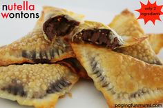 Delicious Nutella Wontons. Only two ingredients required!