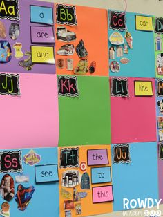 Rowdy in Room 300: Word WallI love the pictures and words for a K-1 classroom.