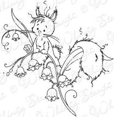 """""""Fluffy on the Lily"""" designed by Sylvia Zet  © Wee Stamps for Whimsy Stamps"""
