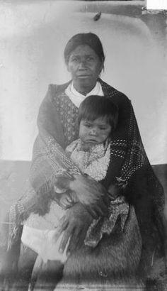 Kweti (wife of James Hornbuckle) with child - Cherokee - 1888