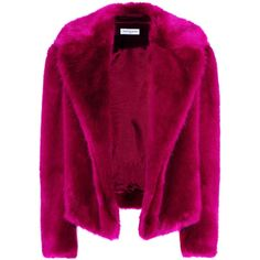 DRIES VAN NOTEN RIMBALD 4101 FAUX FUR JACKET ($1,549) ❤ liked on Polyvore featuring outerwear, jackets, dries van noten, short jacket, faux fur jacket, purple faux fur jacket and purple jacket