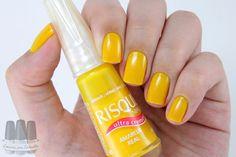 esmalte risque - amarelo real