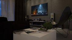 """A survivor is born"" - Tomb Raider  Sala gamer  #3D #3dstudiomax #interiordesign #interiores #arquitetura #architecture #furniture #interiordesign #furnituredesign #design #sala #render #vray #living #game #homedecor #homesweethome #homestyle #instahome #designdecor #room #ps4 #living #instadesign #instadecor #decoration #decor #instagood #tombraider #architectureape #playstation #inspiration"