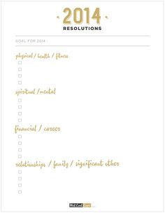 | 2014 new years resolutions |