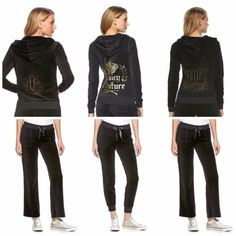 NWT-Juicy-Couture-Velour-Tracksuit-Women-Black-Embellished-Jacket-xs-s-m-l-xl