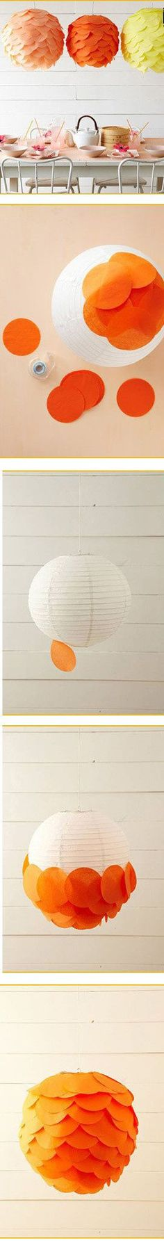 More lamp shade inspo Diy Paper Lanterns – Lets make it colorful....15 Creative Diy Paper Lanterns Ideas to Brighten Your Home #diyCraft