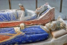 Tomb of Henry II Plantagenet (d. King of England and Count of Anjou. Next to him is the tomb of his queen, Eleanor of Aquitaine (d. Nave of the abbey church, Abbey of Fontevraud, Loire Valley, France. They were my Great Grandparents. Eleanor Of Aquitaine, Canterbury Cathedral, High Middle Ages, Plantagenet, History Timeline, King Henry, Effigy, British History, Ancient History