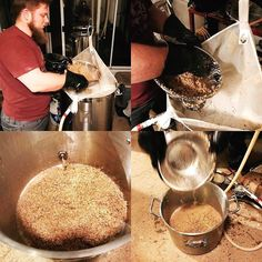 MB Keith hard at work separating grains for a quick hot sparge!
