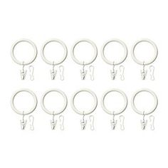 IKEA - SYRLIG, Curtain ring with clip and hook, silver color, , You can hang your curtains with either combination - rings with clips or rings with hooks.