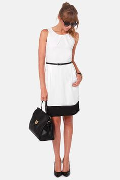 The Good Life Black and White Dress-- perfect for work!