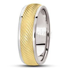 14K #Gold Wavy Grooved #Carved #Design Wedding Band #Wedding #Band #weddingband #ring #25karats
