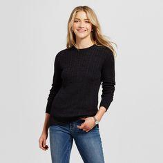 Women's Pullover Sweaters - Merona Gold Xxl, Black Tie