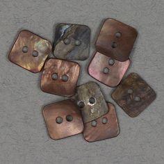 Perlemor firkantet rosa 12x12mm - Perlemor - Knapper