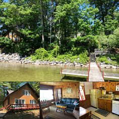 Looking for a place to host the reunion? Smith Family Resort on Mullett Lake has room for 26, with boat docks and mooring buoys. Choose from the main cottage (sleeps 8) and three smaller cabins sleeping 6 each. #bookdirect at northern-lakes.com