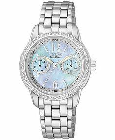 Citizen Watch, Women's Eco-Drive Stainless Steel Bracelet 30mm FD1030-56Y - Women's Watches - Jewelry & Watches - Macy's