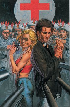 Jesse Custer and Tulip O'Hare from Preacher, written by Garth Ennis