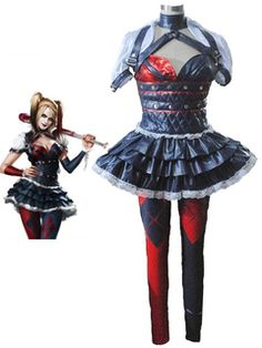 Disfraz de cosplay de Harley Quinn Batman Arkham asilo Harley Quinn