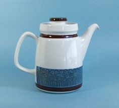 Vintage Rörstrand Amanda Coffee Pot - Christina Campbell Design - Mid Century Scandinavian Swedish Design on Etsy