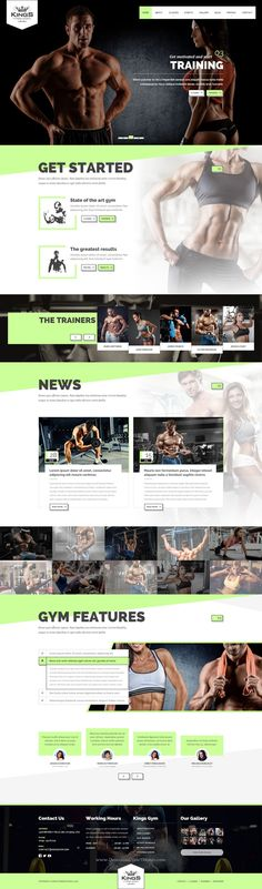 Kings Gym Fitness PSD #Template is the perfect solution for #gyms and fitness studios #website. Download Now!