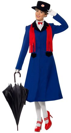 Mary Poppins Plus Adult Costume from Buycostumes.com (W. Blue Dress)