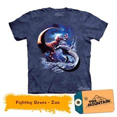 The Mountain Fighting Rexes T-Rex Child T-shirt Dinosaur Outfit, Dinosaur Shirt, Dinosaur Toys For Kids, Order T Shirts, Kids Backpacks, T Rex, Cool Shirts, Party, Mens Tops