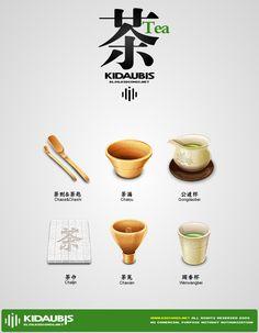 Chinese tea icons by kidaubis