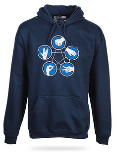 Rock Paper Scissors Lizard Spock Hoodie for the husband's Christmas gift perhaps?