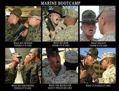 Marine Boot Camp Marine Mom, Marine Life, Marine Corps Quotes, Marine Corps Humor, Usmc Humor, Usmc Quotes, Marine Corps Boot Camp, Marine Corps Baby, Marines Boot Camp