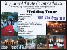 Your One Stop Shop Wedding Receptions, Designer Wedding Dresses, South Africa, Things To Do, Coast, Posters, Shop, Things To Make, Poster