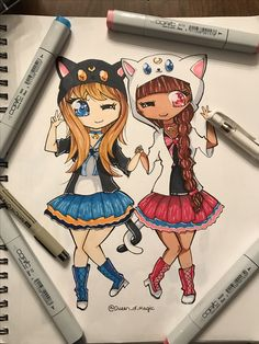 It's humanized Luna and Artemis! I wish I had those kitty hoodies and tails. Sailor Moon obsessed? Just a little. @Queen_of_Magic