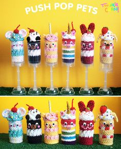 Adoring the new #crochet Push-Pop Pets! by @twinkiechan - so cutely creative!